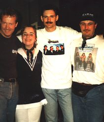 Heiner, Katrin, Andreas and Karsten in Recklinghausen 1998