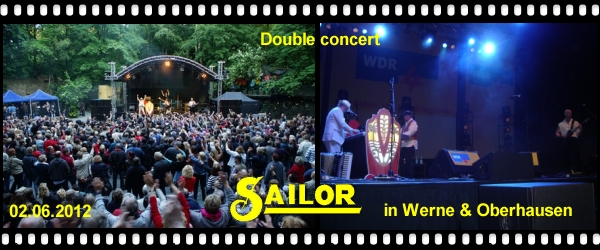 Click here for the new SAILOR concert photos and videos from Werne & Oberhausen