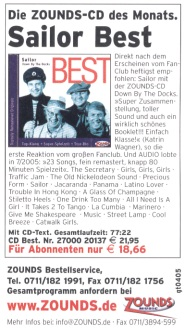 "SAILOR CD ""Best - Down By The Docks"": CD of the month"